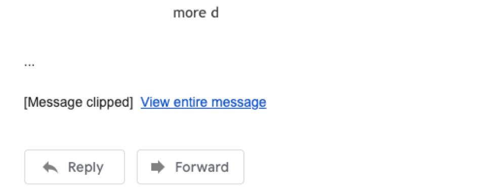 Gmail clipped message
