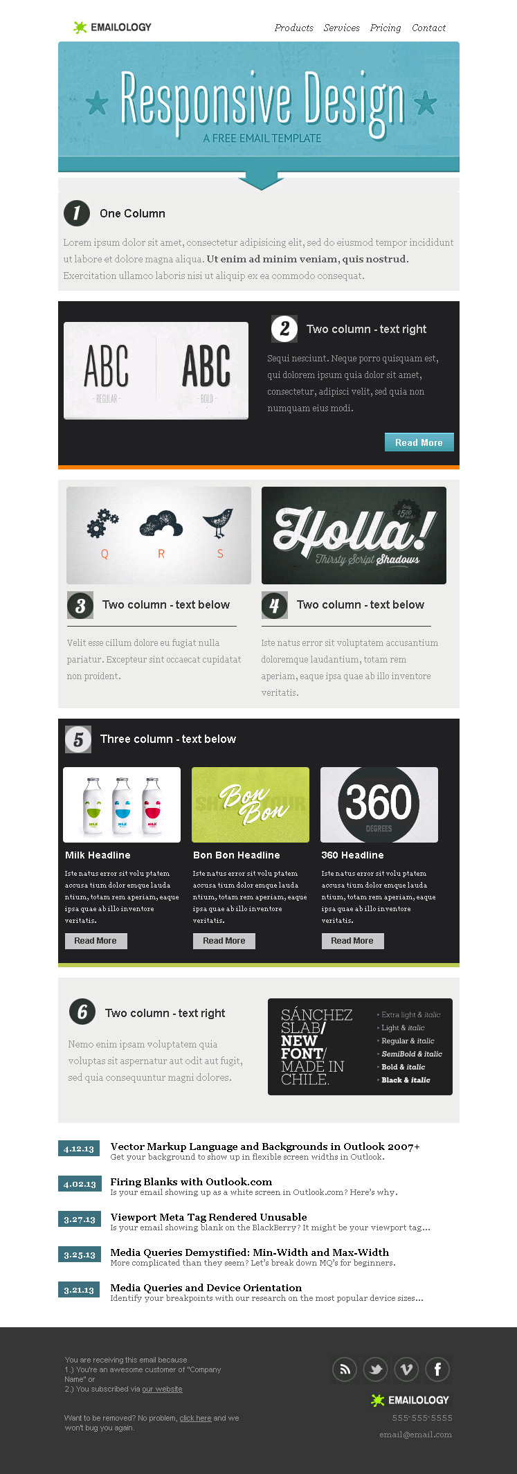 Emailology - Responsive Email Template - Email On Acid