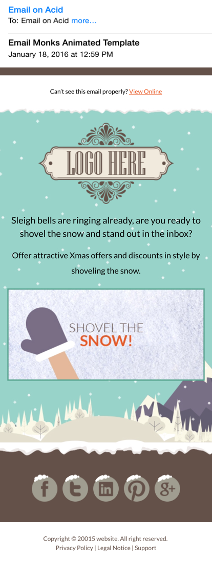 Responsive Winter Wonder Template Email On Acid - Email on acid templates