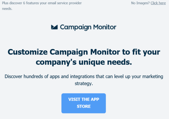 Campaign Monitor newsletter