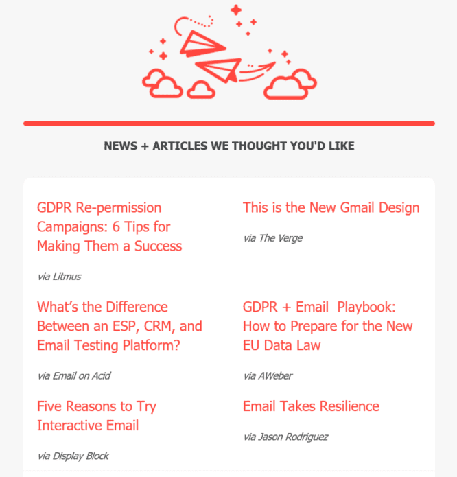 Really Good Emails newsletter