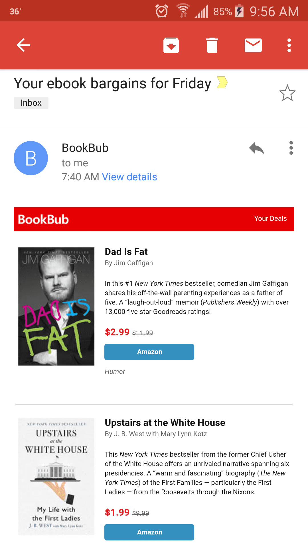 Bookbub personalized email