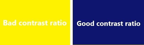 contrast ratio example