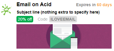Email on Acid promotion card