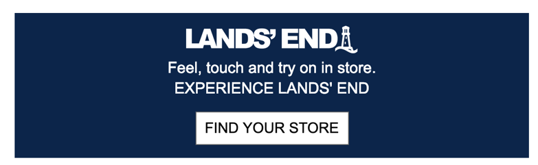 Lands' End's use of high contrast colors make their CTA stand out.