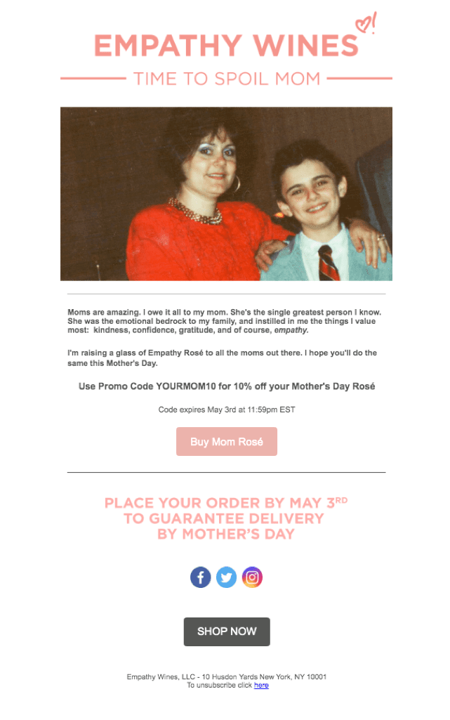Empathy Mother's Day Promotion
