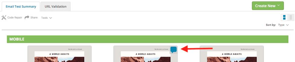 Mark-up Tool indicators during email QA
