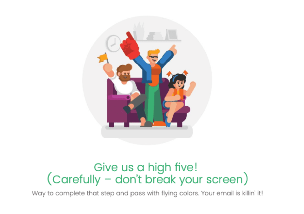 High five for completing the Inbox Display step!