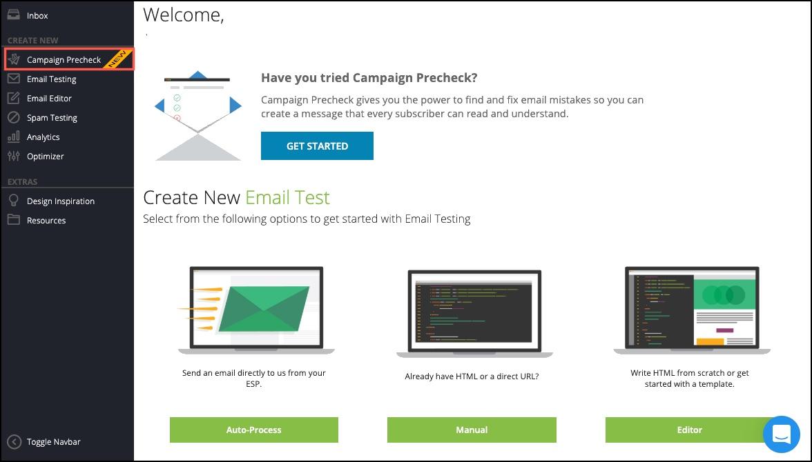 Campaign Precheck Homepage Access