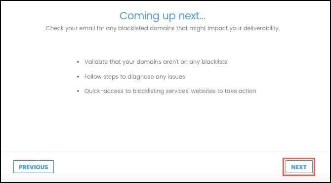Domain Blacklist information and click next