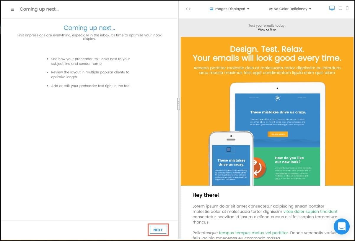 Inbox Display Information and click Next