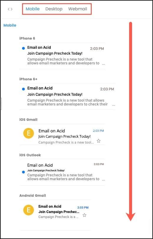 Inbox Display Previews