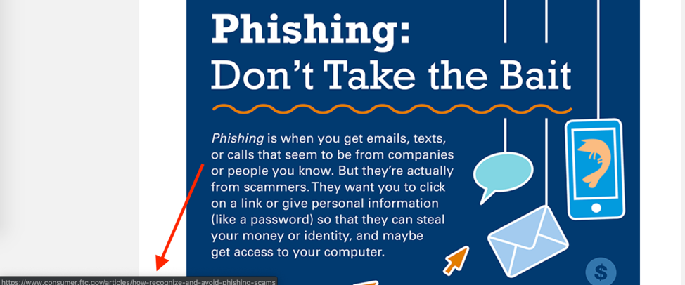 The definition of phishing