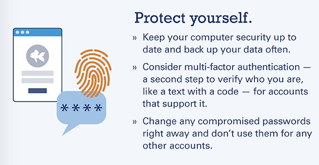 Tips to protect your data from phishing scams